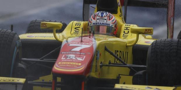 Mitch Evans in action in GP2. Photo / GP2 media.