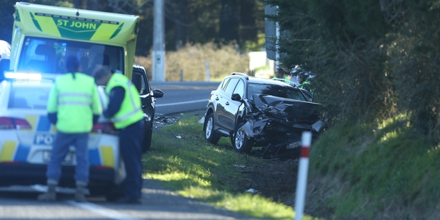 Loading A 45-year-old Katikati woman is in a critical condition at Tauranga Hospital following a crash on State Highway 2 yesterday. Photo/John Borren