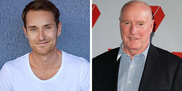 Benedict Wall will play Alf Stewart's son on Home and Away. Photos / Facebook, Getty Images