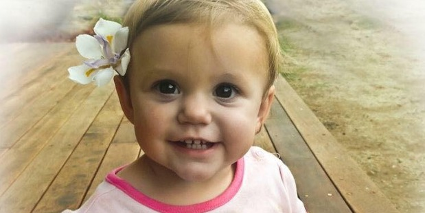 """Isabella Rees died in February, 2015, three hours after her mother Allison found her """"saturated"""" in her own blood. Photo / Facebook"""