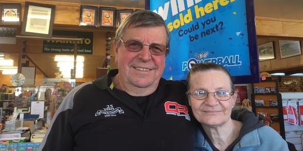 Loading Bill and Brenda Rogers' Oparau Roadhouse store sold one of the $13.3 million winning Lotto tickets. Photo / Belinda Feek