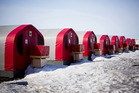 Tents for crew members stand at the Kennady Diamonds in Kelvin Camp in Yellowknife, Canada. Photo / Ben Nelms