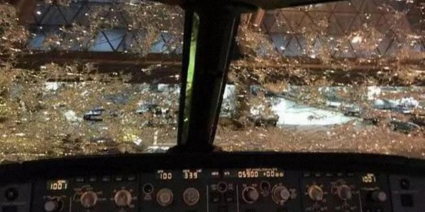 The windshield was 'basically opaque' during the incident. Photo / GoFly