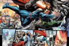 Superman is once again battling Doomsday in the pages of Action Comics, with art by Tyler Kirkham.  Image / DC Comics