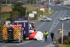 Emergency services at the scene of an accident at Kaiwaka, which killed one man and seriously injured his wife. Photo / Michael Cunningham