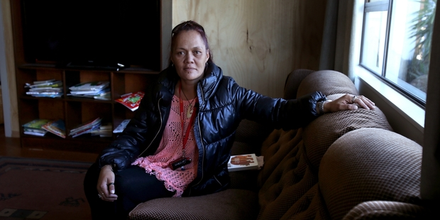 HAVEN: Alana Mihi Dahm and her six children are in emergency housing. PHOTO/JOHN BORREN