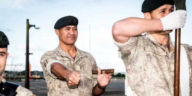 Hawke's Bay-born Army officer Mario Ropitini (left) will be marching in Paris this week. Photo / NZ Defence