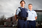 Sergeant Pauline Jones (left) and Senior Sergeant Nicky Riordan are proud to be in the police service. Photo / Stephen Parker