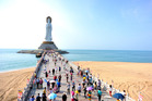 The impressive Guanyin statue on Hainan Island, China. Photo / Getty Images