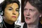 Christiana Figueres of Costa Rica, left, is a late challenger for the UN top job but gave a good showing in the debate along with Helen Clark.