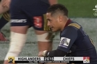 Footage courtesy of Sky Sports A dramatic game saw two yellow cards and numerous disallowed tries as the Highlanders won 25-15 against the Chiefs.