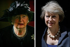 Maggie Thatcher and Prime Minister Theresa May both come from humble beginnings. Photos / Getty Images, AP