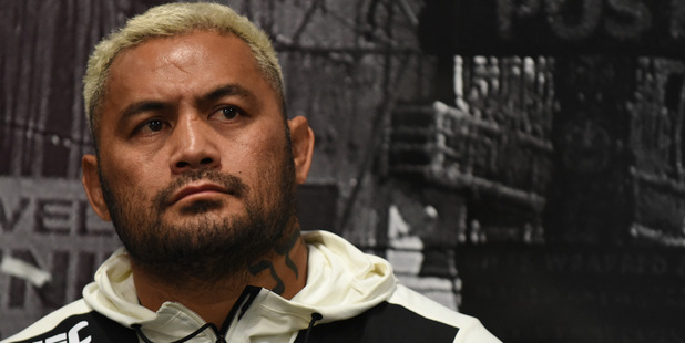 Mark Hunt following his defeat to Brock Lesnar. Photo / Getty