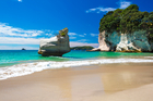 While beautiful beaches like Cathedral Cove might lure Americans to New Zealand, it's all about Donald Trump right now. Photo / iStock