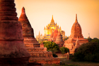 Temples in the ancient city of Bagan, Burma, where the tourist reportedly caused offence with his tattoo of Buddha. Photo / iStock