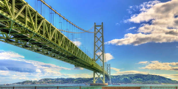 Akashi Kaikyo bridge is also becoming a popular tourist destination. Photo / IStock