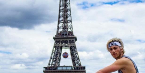 Max Key poses near the Eiffel Tower. Photo / Instagram