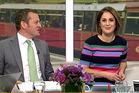 Melissa Stokes, right, and Rawdon Christie during the awkward 'MILF' segment on Breakfast. Photo/TV One