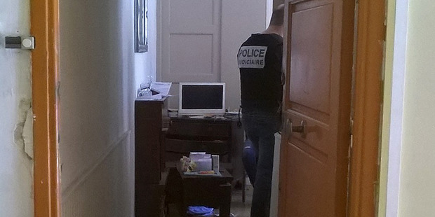 Loading French police officers searching Mohamed Lahouaiej Bouhlel's flat. Photo / Catherine Marciano/AFP/Getty