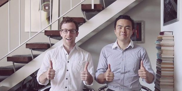 Michael Brandt (L) and Geoffrey Woo (R) are the co-founders of Nootrobox, a nootropics company where employees fast for 36 hours a week. Photo / Vimeo