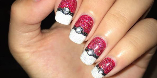 Pokemon-inspired nails popping up on Instagram include colourful critters and pokeballs. Photo / Instagram/crystalssssnails