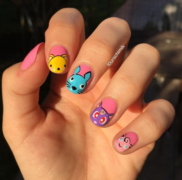 The Pokemon Go craze has started to include nail art. Photo / Instagram/lourschimik