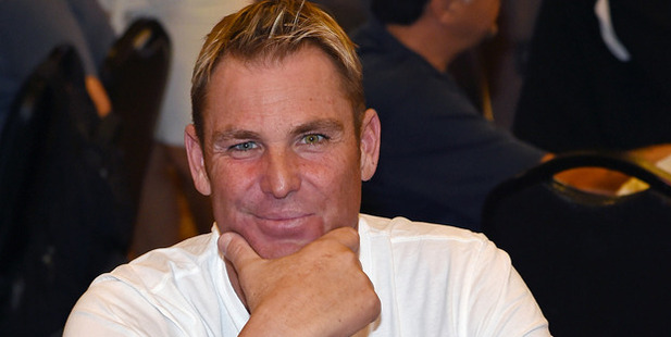 Shane Warne busted out of the World Series of Poker and wasn't happy about it. Photo / Getty
