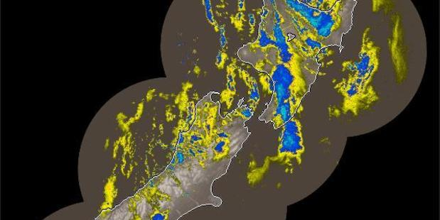 Today's weather is going to be wet. Photo / MetService