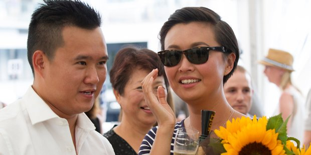 Newly engaged couple Ralph Chang, 30 and Cathy Qin, 30. Photo / Nick Reed