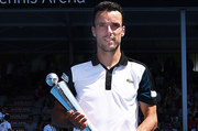 Roberto Bautista Agut from Spain after winning the 2016 ASB Classic Mens. ASB Tennis Centre, Auckland, New Zealand. Saturday 16 January 2016. Copyright Photo: Chris Symes / www.photosport.nz
