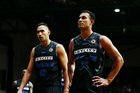 Mika Vukona and Tai Wesley of the Breakers look on during their second defeat in a row. Photo / photosport.co.nz
