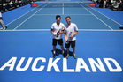Mate Pavic and Michael Venus after winning the ASB Classic doubles final. Photo / www.photosport.nz
