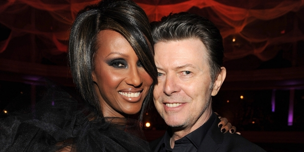 Iman and David Bowie at Hammerstein Ballroom in October 2009.