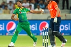 Left arm fast bowler Wahab Riaz is capable of searing pace, a weapon he has been honing ahead of his side's tour of New Zealand. Photo / AFP