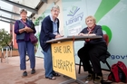 Petition organiser Rosemary Michie (right) with signatories Jane Diment (left) and Joan Taikato. Photo / Andrew Warner