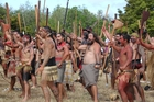 Hundreds of warriors from around the North Island performed challenges, mass haka and battle rituals on Sunday to mark the 170th anniversary of the Battle of Ruapekapeka Pa, the final conflict of the Northern War. Photo / Peter de Graaf