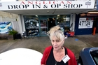 Cris McCrea, Dovecote Drop In and Opportunity Shop manager, says it is facing a problem with people taking items from outside the store in Papamoa, which meant less money was being distributed in the community. Photo / George Novak