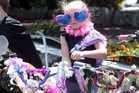 Millie Catley, 5, of Napier won an Avanti bike in the Summer Cycling Carnival-Big Save Dress Your Bike Competition. Photo / Paul Taylor
