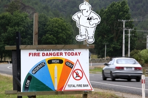 While Ruapehu still allows outdoor fires, there is now a total ban in place in Whanganui. Photo / Bevan Conley