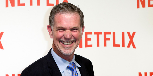 Netflix CEO Reed Hastings arrives for the Netflix launch party in Paris in 2014. AP photo / Jacques Brinon