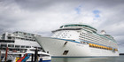 The super-sized cruise ship first docked at Princes Wharf in Auckland in December last year. Photo / Greg Bowker