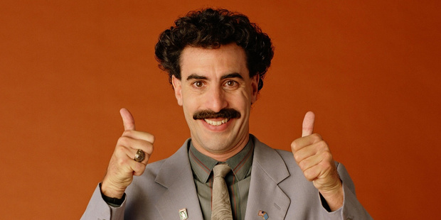 Sacha Baron Cohen as his comic movie creation Borat, a character he says he is retiring.