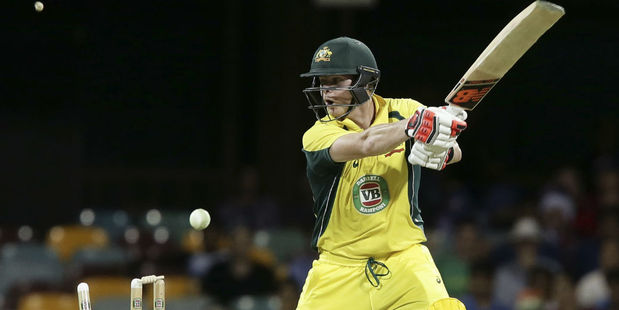 Steve Smith is bowled by Umesh Yadav. Photo / AP