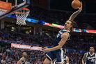 Steven Adams grabs a rebound for the Oklahoma City Thunder. Photo / photosport.co.nz