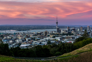 View of Auckland from the summit of Mt Eden. Photo / File