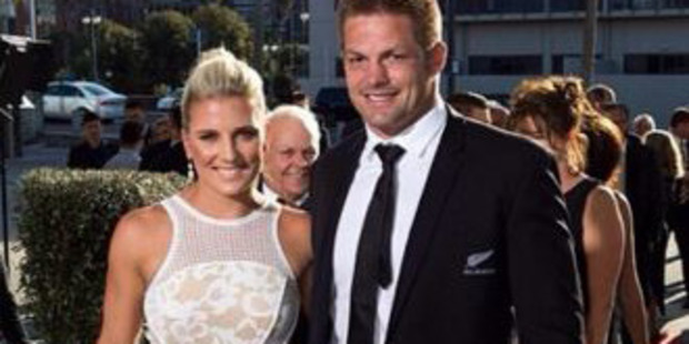 Gemma Flynn and Richie McCaw at the Halberg awards last year. Photo / Instagram
