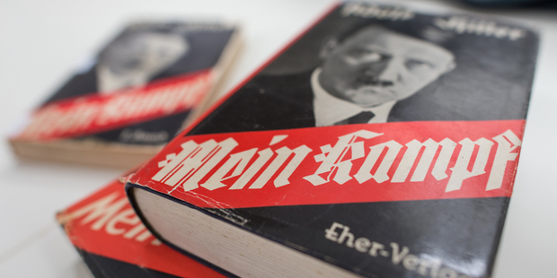 Originally released in 1925, nearly 10 years before Hitler came to power, the book laid out a violent vision that would lead to WWII and the Holocaust. Photo / AP