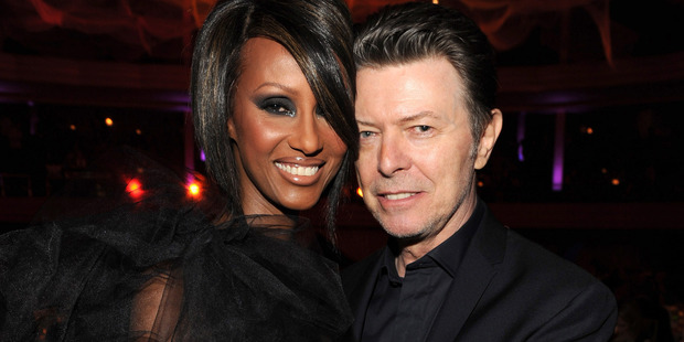 Iman and David Bowie in 2009. Photo / Getty Images