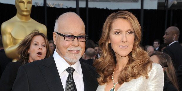 Rene Angelil and Celine Dion at the Oscars in 2011. Photo / Getty