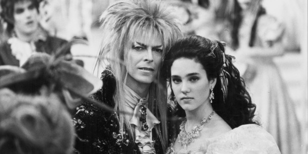 Actors David Bowie and Jennifer Connelly in a scene from the movie 'Labyrinth', 1986. Photo / Getty Images